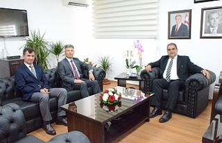 Sucuoğlu, Sivil Savunma Başkanı'nı kabul...