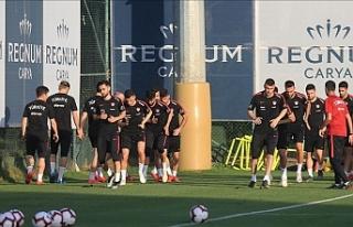 Türkiye Milli takımı Fransa maçının hazırlıklarını...