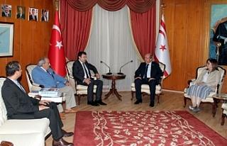 Başbakan,Türkiye Belediyeciler Birliği heyeti ile...