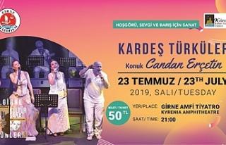 Candan Erçetin ve Kardeş Türküler konser verecek