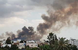 Haspolat'ta arazi yangını
