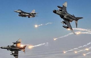 Irak'ın kuzeyine hava harekatı: 2 terörist...