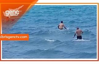 Oris Bar isimli iş yeri plajında boğulma tehlikesi