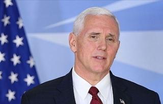 Pence'in seyahatini iptal etmesi Beyaz Saraya...