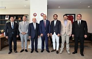 Sertoğlu, TFF Başkanı Özdemir'i ziyaret etti