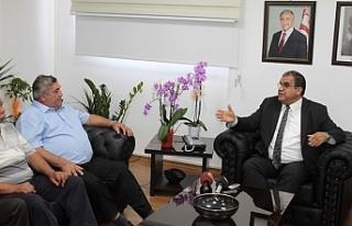 Sucuoğlu, Taşeronlar Birliği heyetini kabul etti
