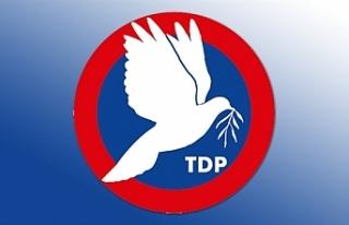 TDP: Cumhurbaşkanı Akıncı'nın önerisinin kabul...