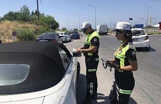 Trafik Seferberliği kapsamında, Girne'de denetimler...