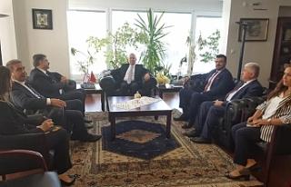Türkiye-KKTC Dostluk grubundan Ankara Büyükelçiliğine...