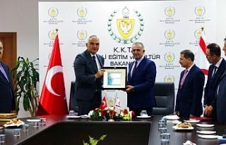 Bakan Çavuşoğlu, Ersoy ile biraraya geldi