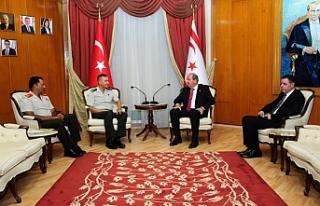 Başbakan Tatar, Yılmaz ve Volkan'ı kabul etti