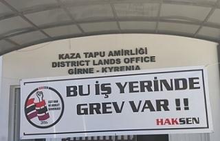Girne Tapu Dairesi'nde bir günlük uyarı grevi