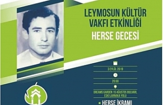 Leymosun Kültür Vakfı'nın 6.Geleneksel Herse...
