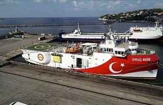 Oruç Reis'in Doğu Akdeniz yolculuğu devam...