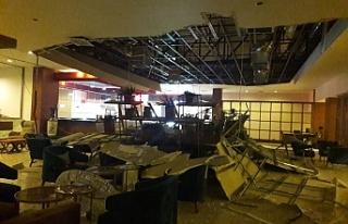Acapulco Otel'de patlamalardan dolayı bazı hasarlar...