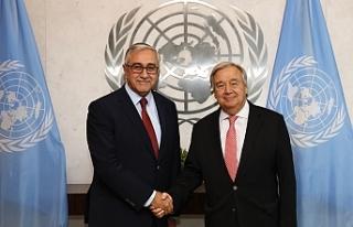 Akıncı, BM Genel Sekreteri Antonio Guterres ile...
