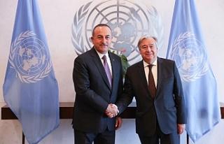 Çavuşoğlu, Guterres ile görüştü, Kıbrıs da...