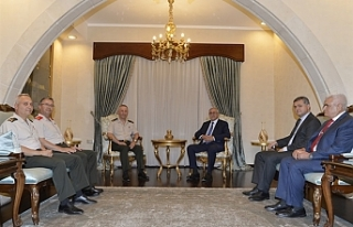 Cumhurbaşkanı Akıncı, komutanları kabul etti
