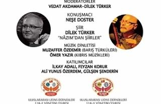 """İstanbul'da """"Türkiye-KKTC Şiir ve Müzik..."""