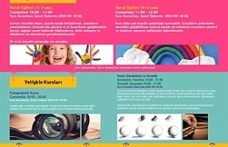 Kültür-Sanat Atölyesi kurslarına yeni kayıtlar...