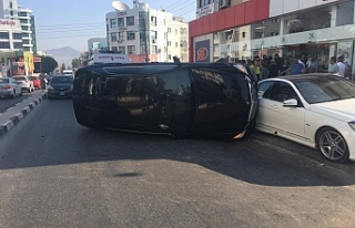 Lefkoşa'da korkutan kaza