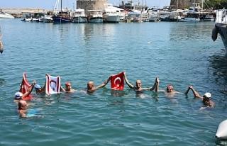 Mersin'den Girne'ye kadar yüzdüler