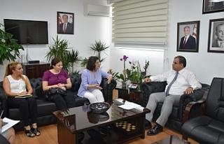 Sucuoğlu, DAÜ KAEM Yönetim Kurulu üyelerini kabul...