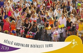 """""""Süslü Kadınlar Bisiklet Turu"""" etkinliği..."""