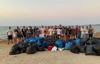 Take Action Cyprus, Güzelyalı sahilini temizledi