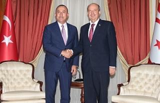 Tatar,  Mevlüt Çavuşoğlu'nu kabul etti