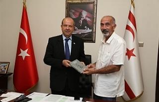 Tatar, yazar Tözer Karafistan'ı kabul etti