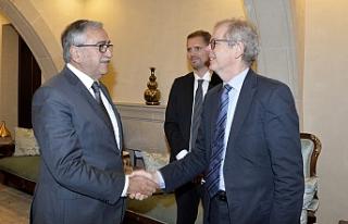 Akıncı, İsveç Büyükelçisini kabul etti