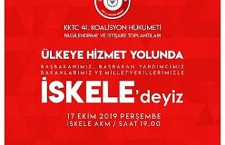 Başbakan Tatar ve Bakanlar yarın İskele'yi...