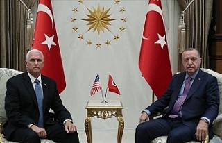 Erdoğan ABD Başkan Yardımcısı Pence'i kabul...