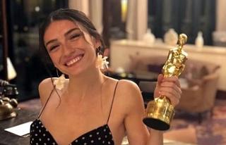 Hazar Ergüçlü'ye en iyi kadın oyuncu ödülü