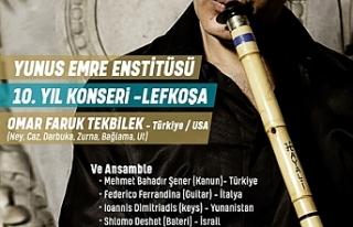 Ömer Faruk Tekbilek, Lefkoşa'da konser verecek