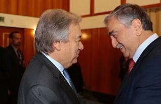 Akıncı, Guterres ile biraraya geldi