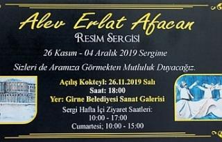 Alev Erlat Akacan'nın resim sergisi yarın