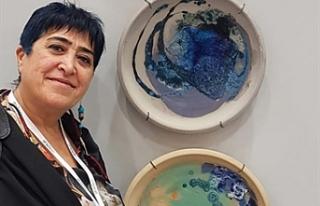 Ayhatun Ateşin, İstanbul Sanat Fuarı'na katıldı