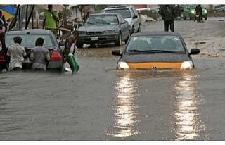 Cibuti'de, iki yıla eşit yağmur bir günde...