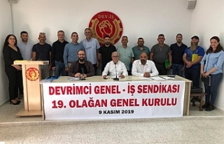 Devrimci Genel İş Sendikası Genel Kurulu yapıldı