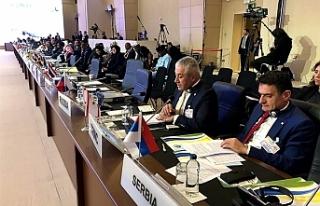 Ekonomi ve Enerji Bakanı Taçoy, İSEDAK toplantısında...