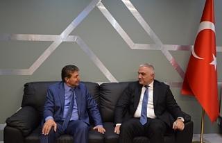 Üstel, Türkiye Kültür ve Turizm Bakanı ile görüştü