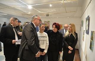 Ekin Zeki'nin kişisel resim sergisi açıldı
