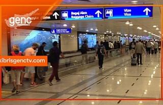 Ercan'dan fazla parayla çıkmak isteyen yolcuya...