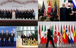 Erdoğan'ın 2019 mesaisi yoğun geçti