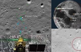 NASA Hindistan'ın Ay yüzeyindeki kayıp modülü...