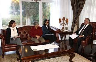 Akıncı, Emaa Başkent Sanat Merkezi Heyetini Kabul...