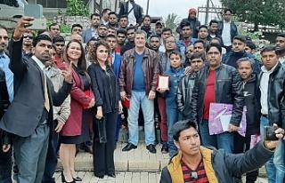 Arıklı, KKTC'de yaşayan Bangledeşliler ile...