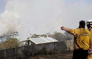 Avustralya'da yangınlar nedeniyle Canberra Havalimanı...